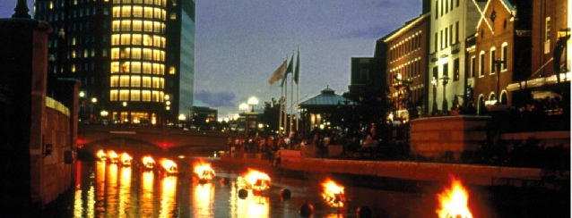 Rhode Island - Waterfire Festival in Providence RI - See America - Visit USA Travel Guide